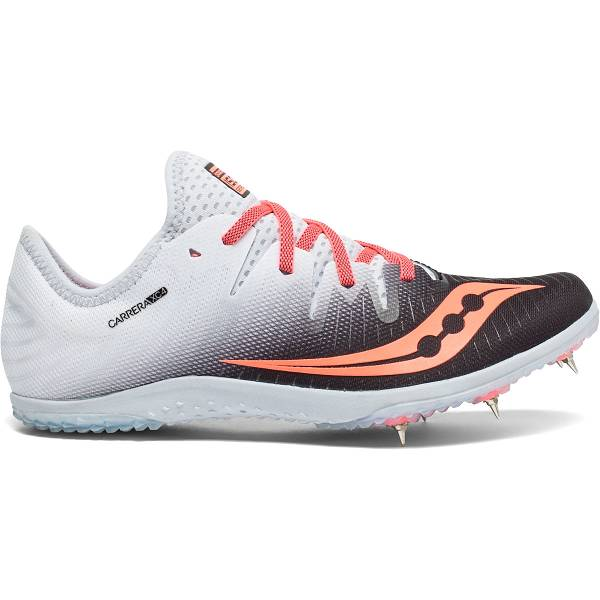 Scarpe Chiodate Saucony Donna Carrera XC4 Spike In Nere/Corallo IT49169