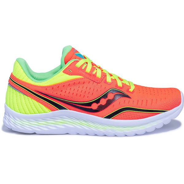 Scarpe Running Saucony Donna Kinvara 11 In Gialle Fluo/Arancione IT23956